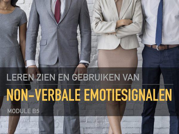 Leren zien en gebruiken van non-verbale emotiesignalen